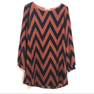 Modcloth Everly Chevron Shift Dress